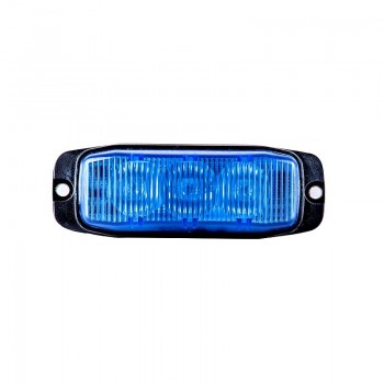 BARRA PEQ 3 LED AZUL 12/24V