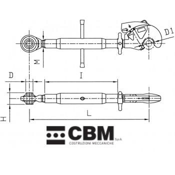 650-950mm M36x3 P3/P3