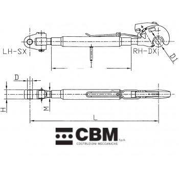 610/905mm M36x3 D32/P3
