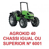 AGROKID 40 CHASSI IGUAL OU SUPERIOR Nº 6001