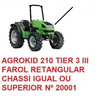AGROKID 210 TIER 3  CHASSI IGUAL OU SUPERIOR Nº 20001