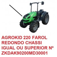 AGROKID 220 TIER 3 CHASSI IGUAL OU SUPERIOR Nº ZKDAK90200MD30001