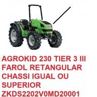 AGROKID 230 TIER 3 CHASSI IGUAL OU SUPERIOR Nº ZKDS2202V0MD20001