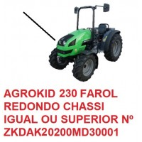 AGROKID 230 TIER 3 CHASSI IGUAL OU SUPERIOR Nº ZKDAK20200MD30001